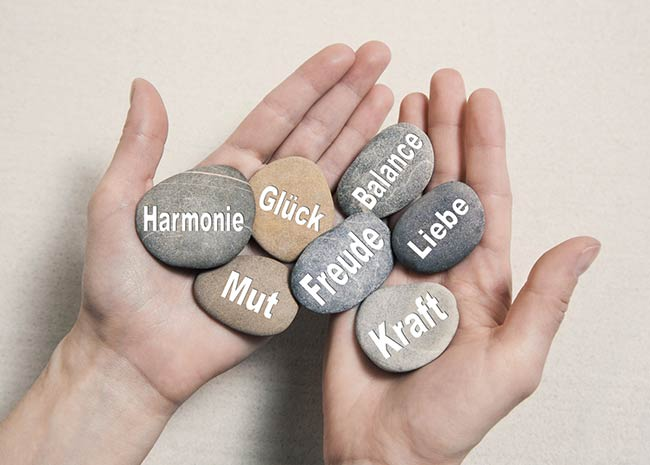 Hände voll Glück, Balance, Kraft, Freude